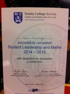 Tritinty College Maths and Leadership Awards