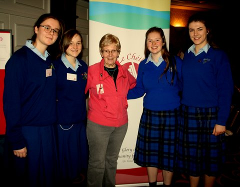 Maryfield College pupils at the Le Cheile Conference Athlone 2017
